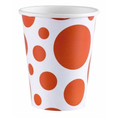 Narancssárga pöttyös parti pohár