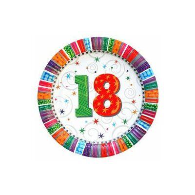 """Papír tányér - """"18"""""""