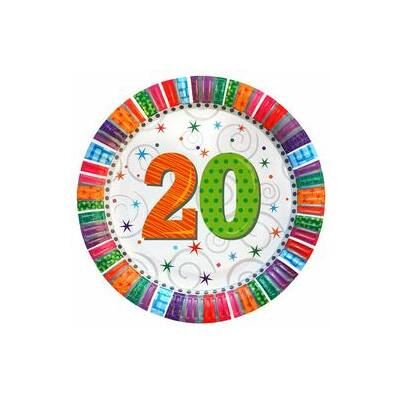 """Papír tányér - """"20"""""""