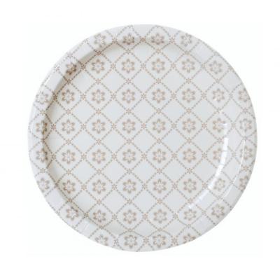 Papír tányér - virág mintával, 6 db-os