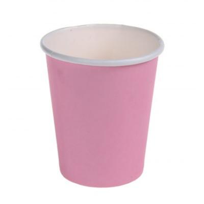 Papírpohár - rózsaszín, 6 db-os