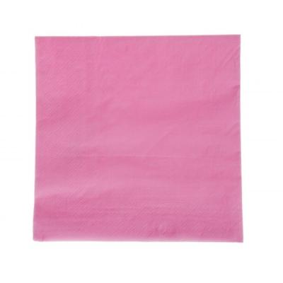 Szalvéta - rózsaszín 33 x 33 cm, 2 rétegű, 16 db-os